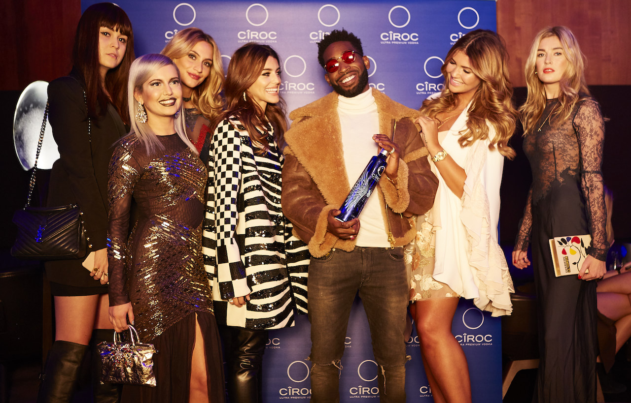 Tinie Tempah and CÎROC influencers at CIROC's pre-show drinks reception
